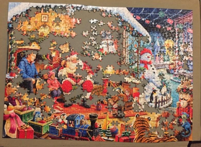 Lets Visit Santa Limited Edition 1000 piece puzzle