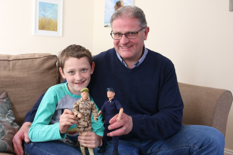 father and son with Action Man