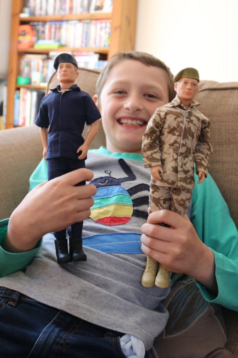 boy with action man
