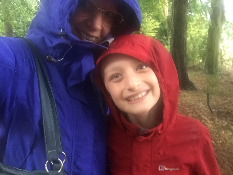 Fun in the rain and conker hunting at Stowe
