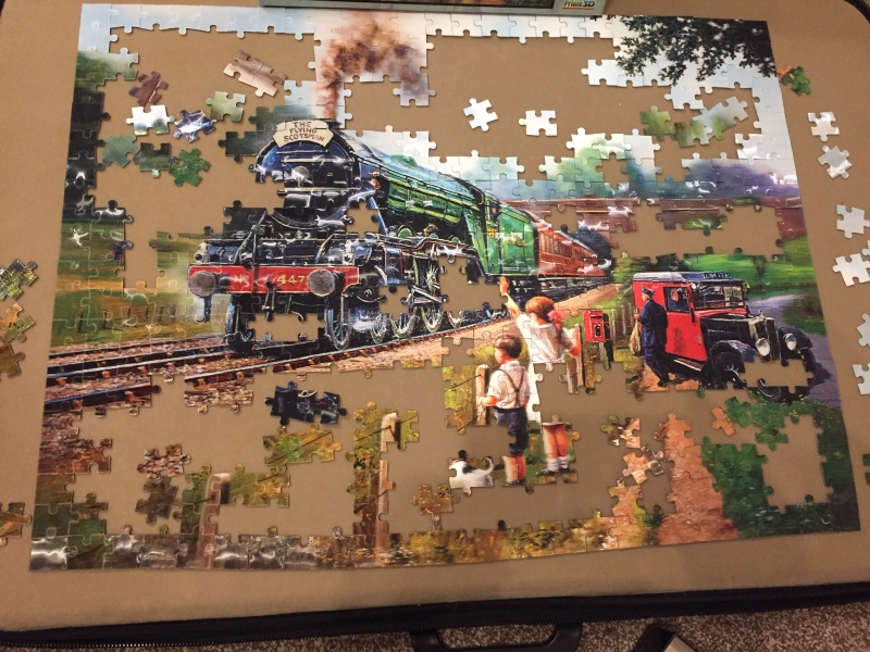 Watching 3D 500 piece jigsaw puzzle