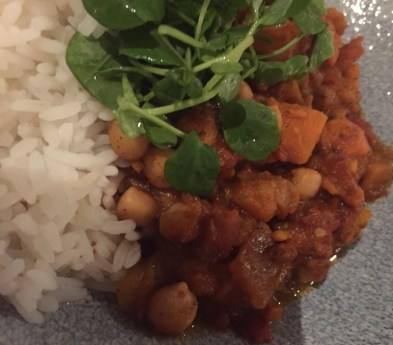 Sweet potato and vegetable chilli