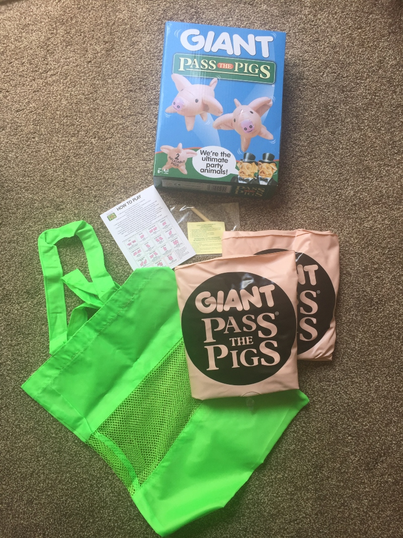 Outdoor fun with Giant Pass the Pigs