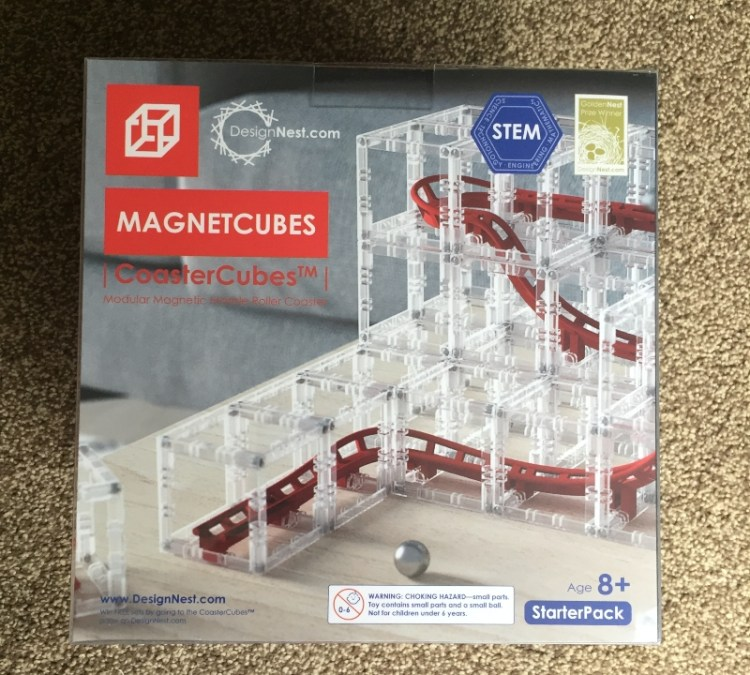 DesignNest MagnetCubes Rollercoaster Marble Run