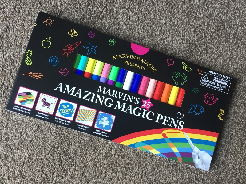 Getting creative with Marvin's Amazing Magic Pens