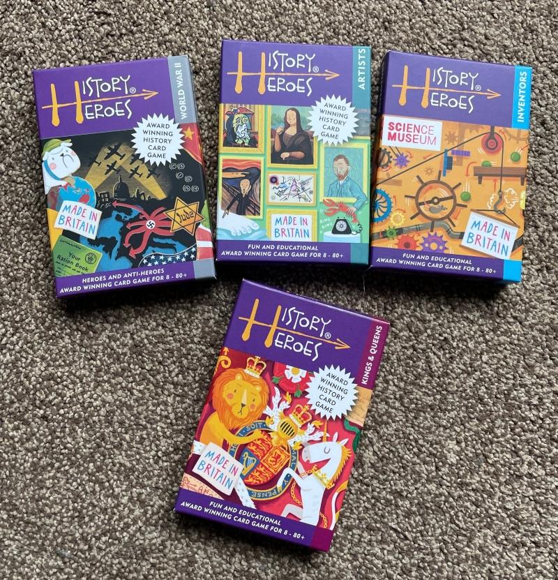 History Heroes card games