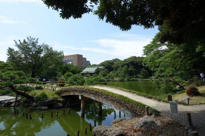 清澄庭園 中の島への橋