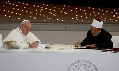 Papa Francisco e Ahmed al-Tayeb
