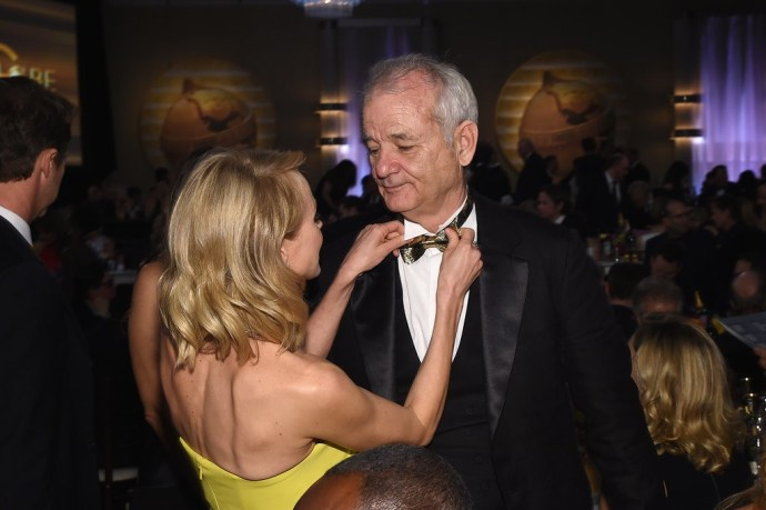 Naomi-Watts-fixed-Bill-Murray-bow-tie-during-commercial-break
