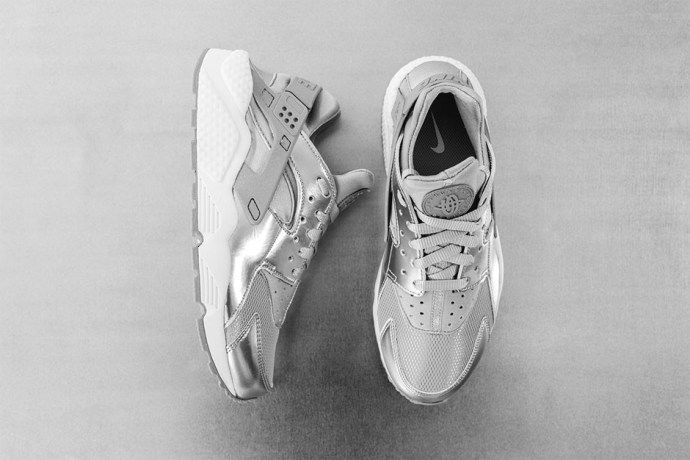 "Nike Womens Air Huarache ""Metallic Silver"""