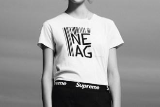 T-shirt Marc by Marc Jacobs. Hat Alexander Wang (menswear). Briefs Supreme.