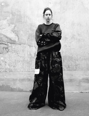 Top Marc Jacobs. Trousers Martine Rose. Belt Stylist's own.