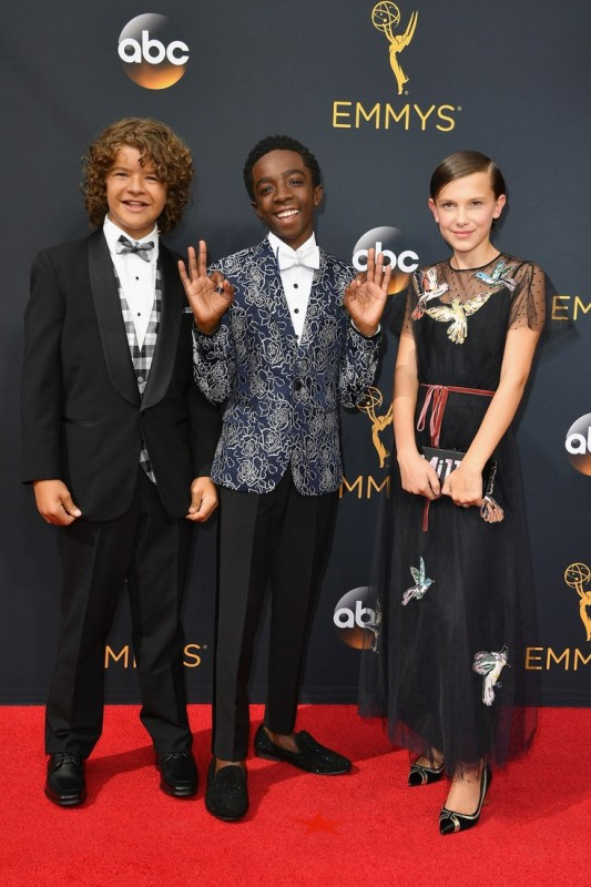 2016-emmys-best-dressed-gaten-matarazzo-caleb-mclaughlin-millie-bobby-brown
