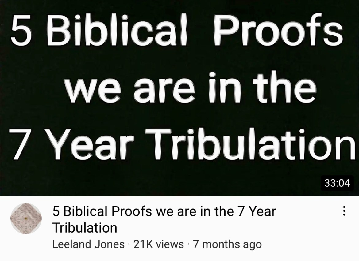 5 Biblical Proofs we are in the 7 Year Tribulation