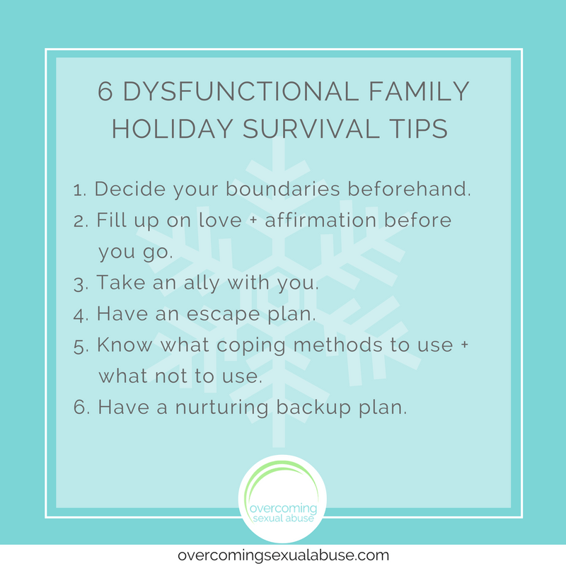dysfunctional family holiday survival