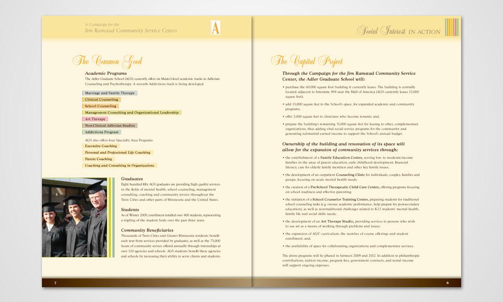 Adler Graduate School Brochure Overdog Art Freelance