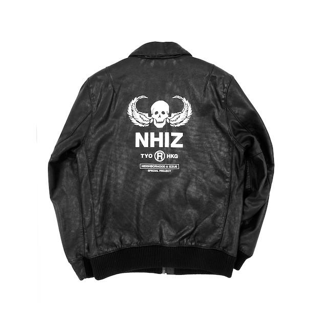 NHIZ LEATHER BOMBER $8,999 (back)