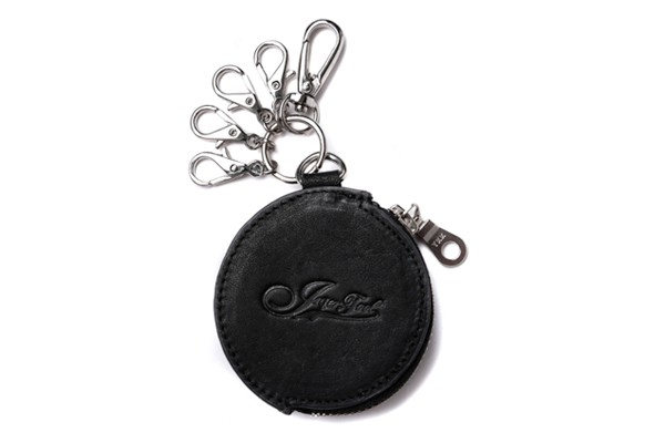 INTER-FOOL-真皮-鑰匙包-黑
