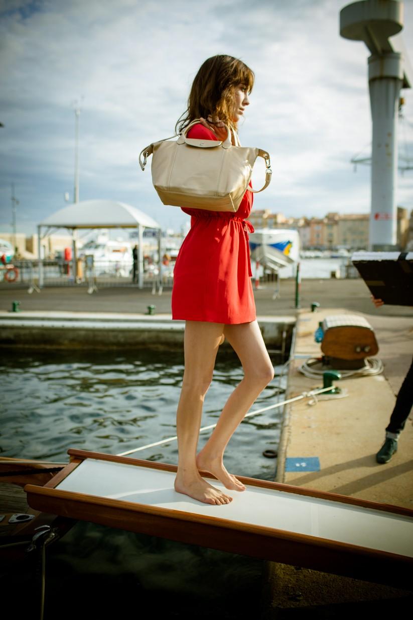 Longchamp 2014春夏廣告新面孔- 艾里珊鍾Alexa Chung_拍攝花絮 2