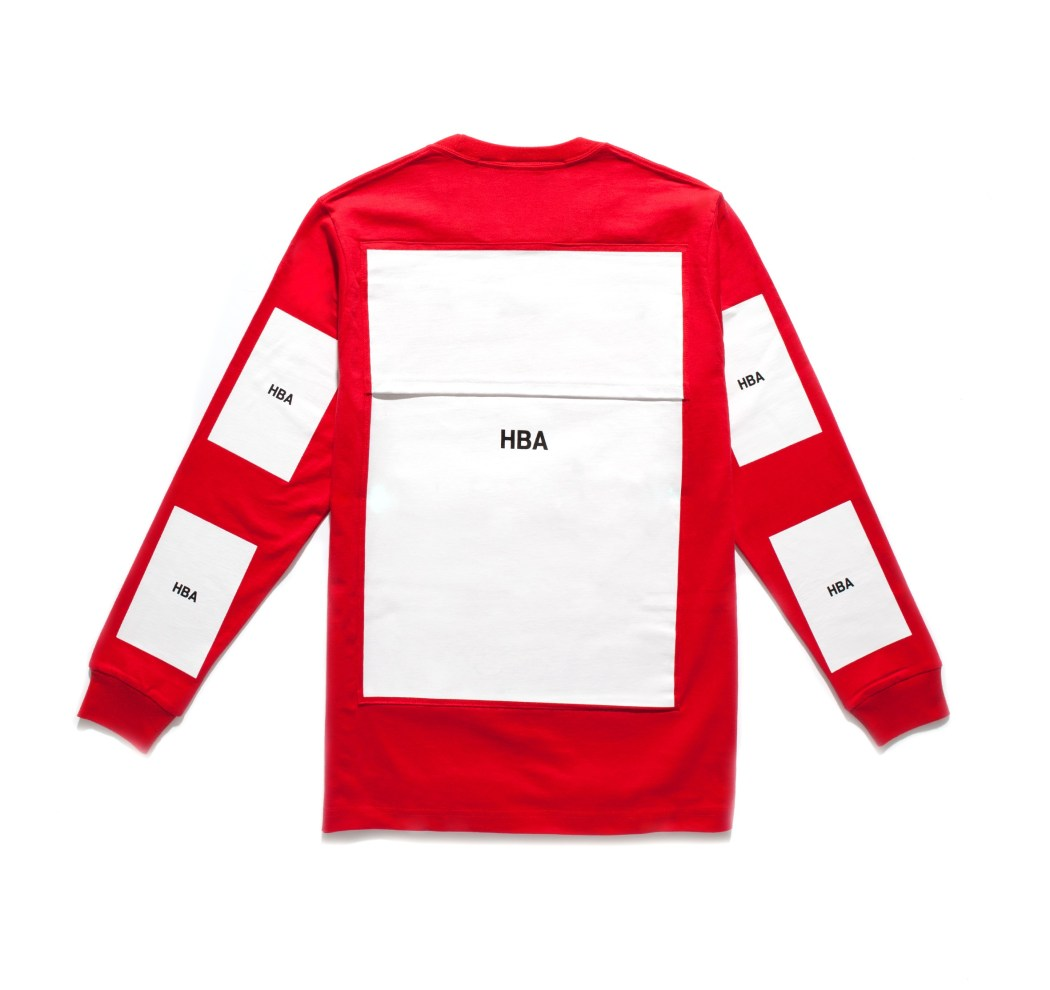 Yohood x HBA Block LS Red Tee (Back)