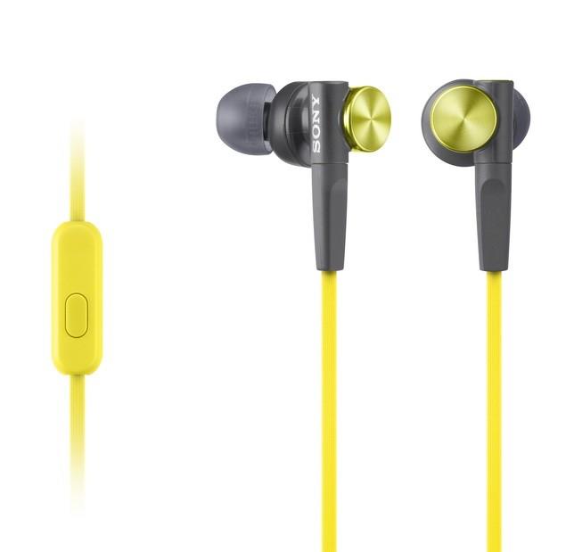 XB51AP外型帶有金屬質感的高彩度亮藍與金黃設計,展現街頭潮流風格。_