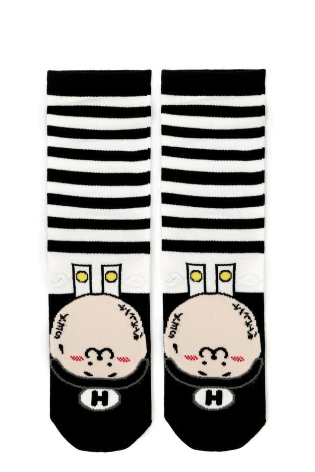 HYOMA SP14 Hario Stripe Black Socks $109