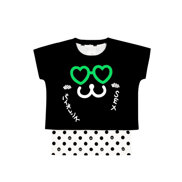 HYOMA SP14 Heart-eye Dotted Twinset $529