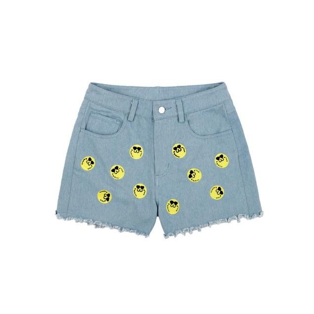 HYOMA SP14 Hyoma Embroidery Light Blue Denim Shorts $759