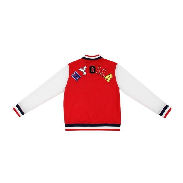 HYOMA SP14 Varsity Red Jacket with Badge $899 (Back)
