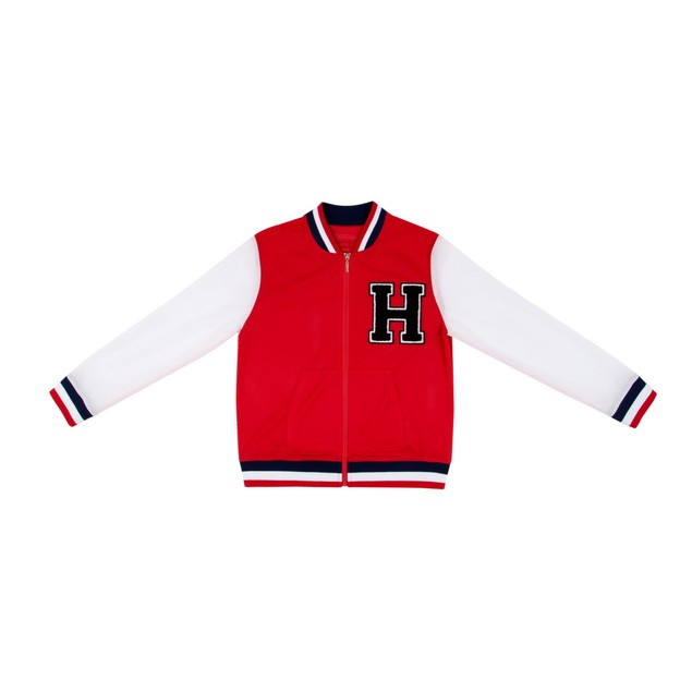 HYOMA SP14 Varsity Red Jacket with Badge $899 (Front)