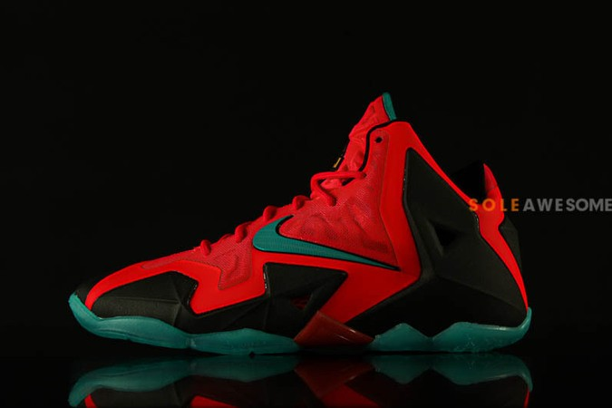 nike lebron 11 gs solar red-1