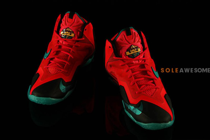 nike lebron 11 gs solar red-2