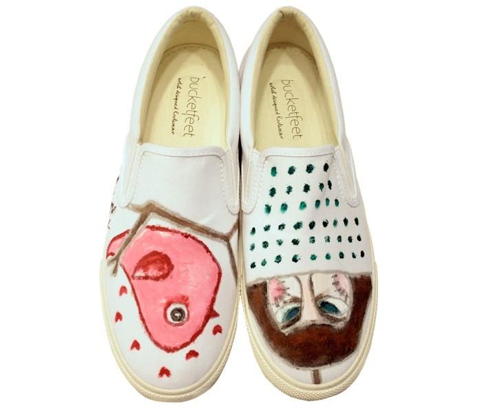 王心恬手繪鞋款