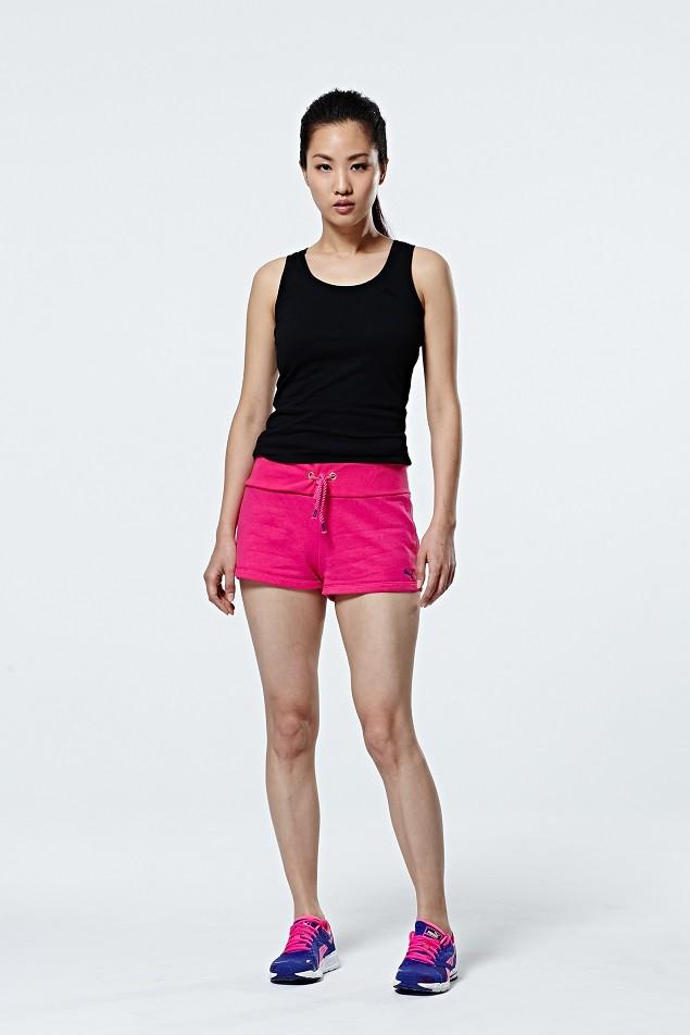 PUMA BioDry系列素色休閒背心,建議售價NT$680;PUMA BioDry系列素色造型休閒短褲:建議售價NT$880