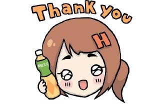 「爽健美茶X Hebe田馥甄」LINE貼圖_Thank You
