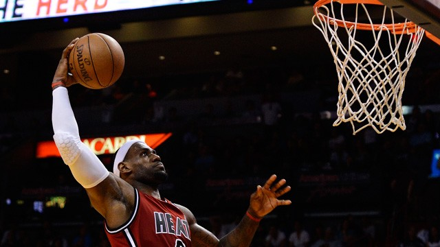LeBron James defends spectacular pre-game dunk ritual - video