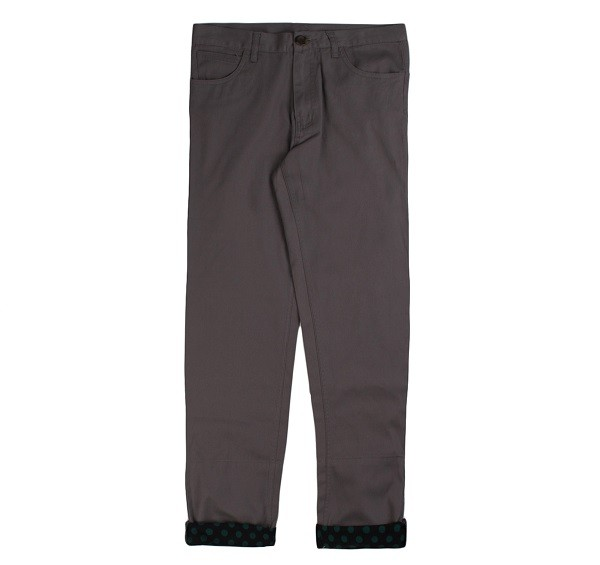Polka Dots Roll Up Pants_(Grey1)