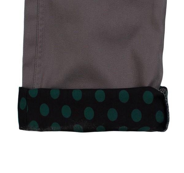 Polka Dots Roll Up Pants_(Grey3)