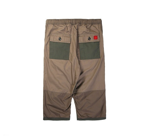 Tonal Panel 3_4 Shorts_(Army Green2)