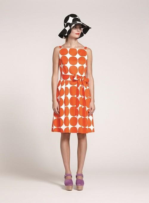 marimekko 橘色圖紋洋裝 NT$11,150