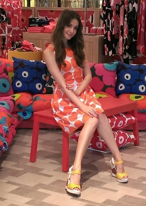 瑞莎著marimekko 圖紋洋裝現身marimekko  Pop-up Store (3)