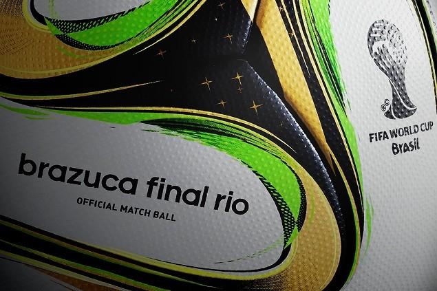 Brazuca Final Rio設計靈感源自世界盃冠軍金盃的榮耀配色-綠色及金色,同時也是2013年12月揭曉的比賽指定用球Brazuca的特別版。