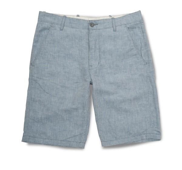 淺藍色輕薄類丹寧短褲