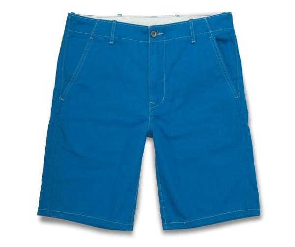 多彩系列藍色休閒短褲