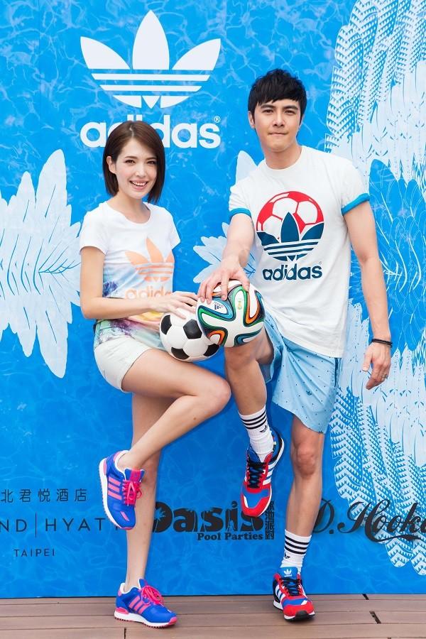 adidas Originals 夏日世足新品發表會 許瑋甯、謝佳見PK膝上頂球