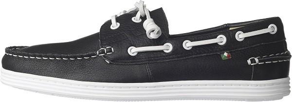 TRAVEL FOX 世足推薦鞋款-德國隊_STYLE風格-帆船鞋款(黑)_原價$3,200元(男)