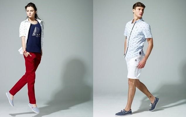 04_FILA URBAN 都會時尚系列_加入襯衫、復古撞色窄管修身長褲、百慕達褲等單品,全系列採用F-BOX金色電繡LOGO設計,休閒風格中增添都會時尚元素