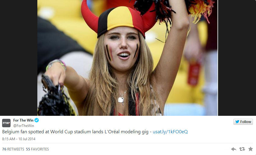 Belgium Fan Lands Modeling Gig After World Cup Image Takes Off   Bleacher Report (1)