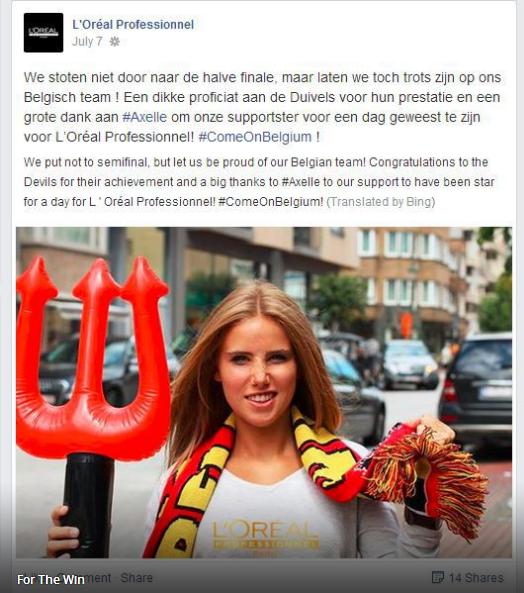 Belgium Fan Lands Modeling Gig After World Cup Image Takes Off   Bleacher Report (2)