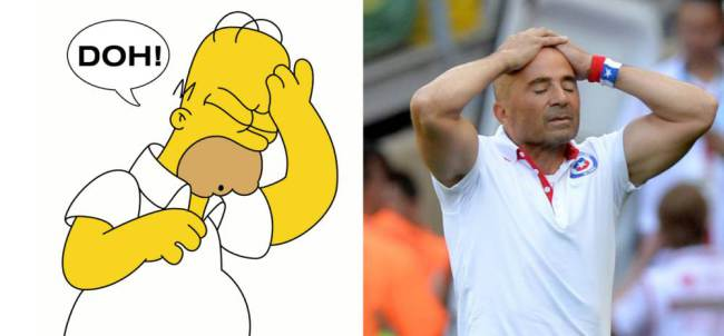 Homer and Jorge Sampaoli
